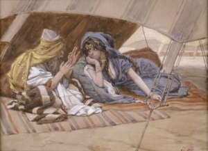 Abram's Counsel to Sarai by James Tissot