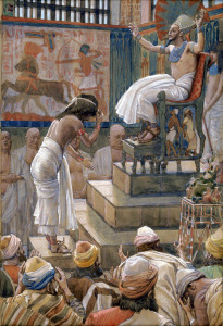 House of Israel welcomed by Pharaoh, watercolor by James Tissot (c. 1900)