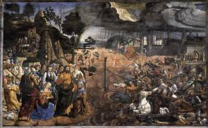 The Crossing of the Red Sea (1481-1482) from the Sistine Chapel, Rome